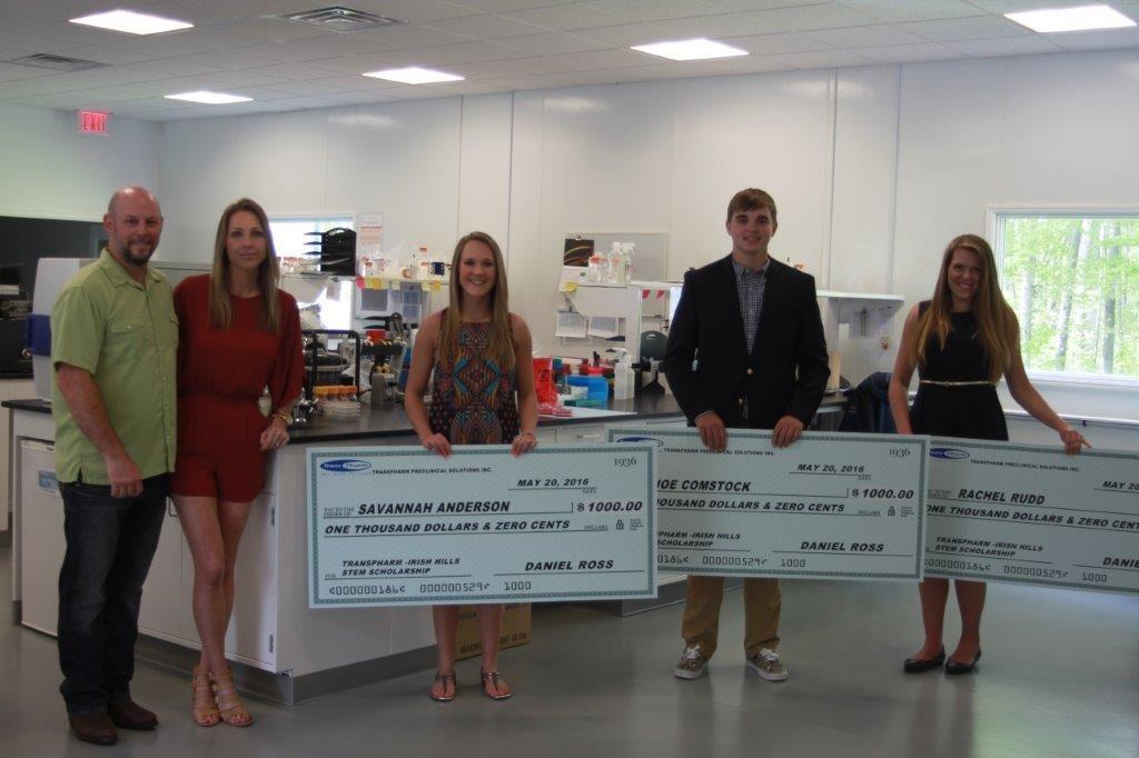 2016 TransPharm scholarship winners